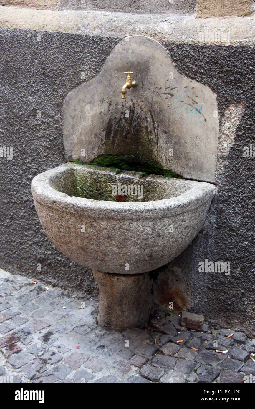 Italy, Lake Maggiore, Drinking fountain - Stock Image