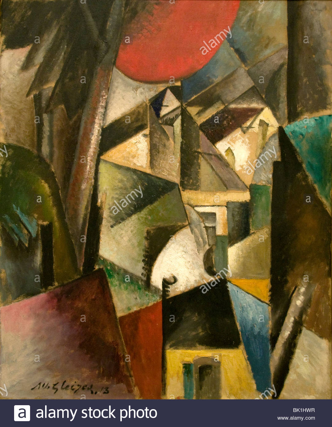 Albert Gleizes France French Painter Landscape with mill 1913 - Stock Image