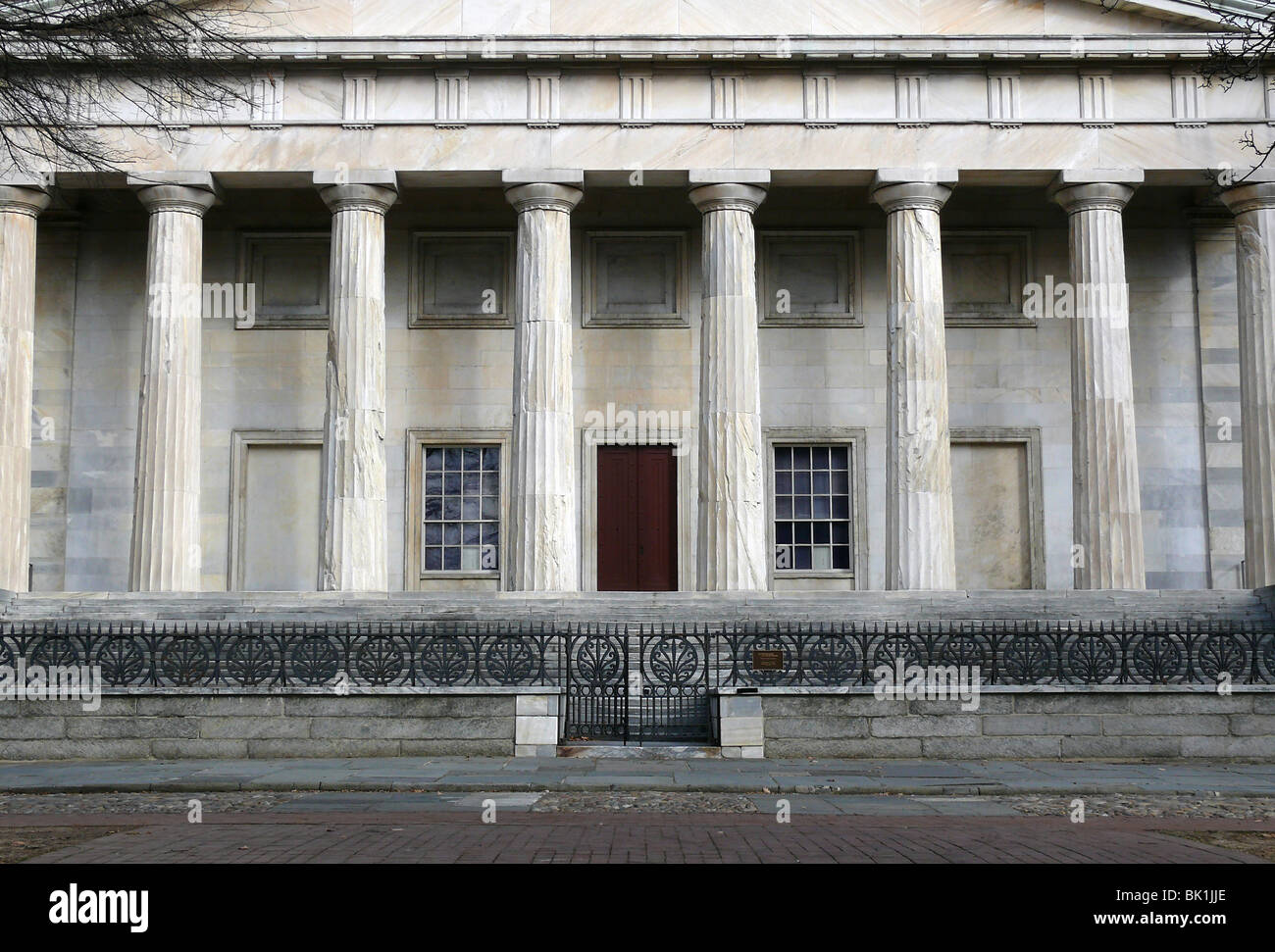 The historic Second National Bank building in Independence National Park. Philadelphia PA - Stock Image