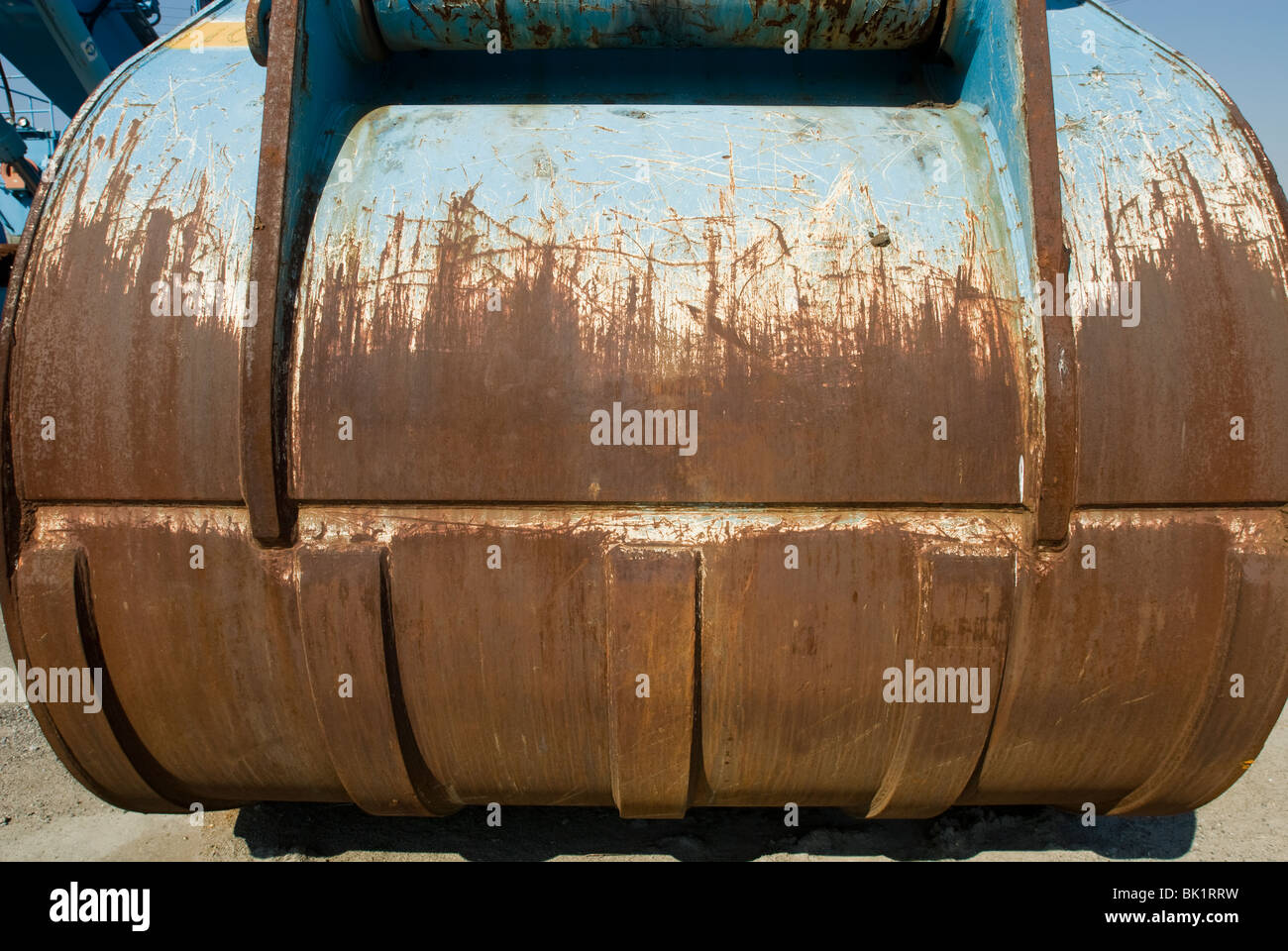 Heavy duty earth moving equipment parked in Staten Island in New York - Stock Image