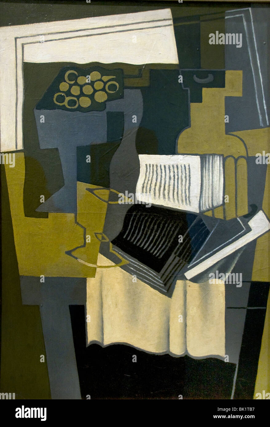 Juan Gris France French Painter The Musician's table Musician 1926 - Stock Image