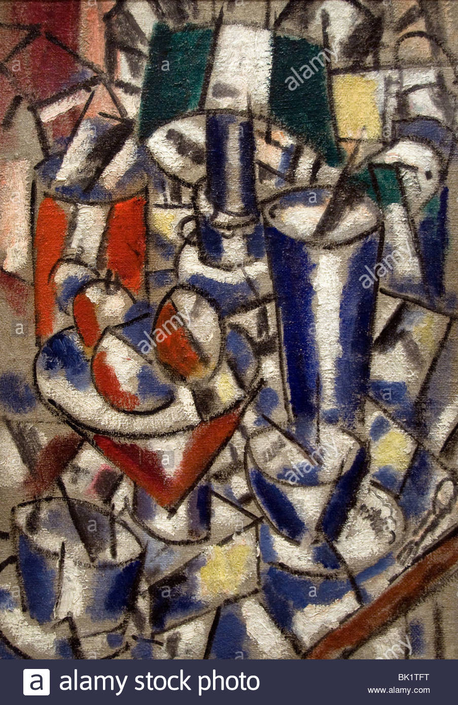 Fernand Leger France French Painter still live with lamp 1914 - Stock Image