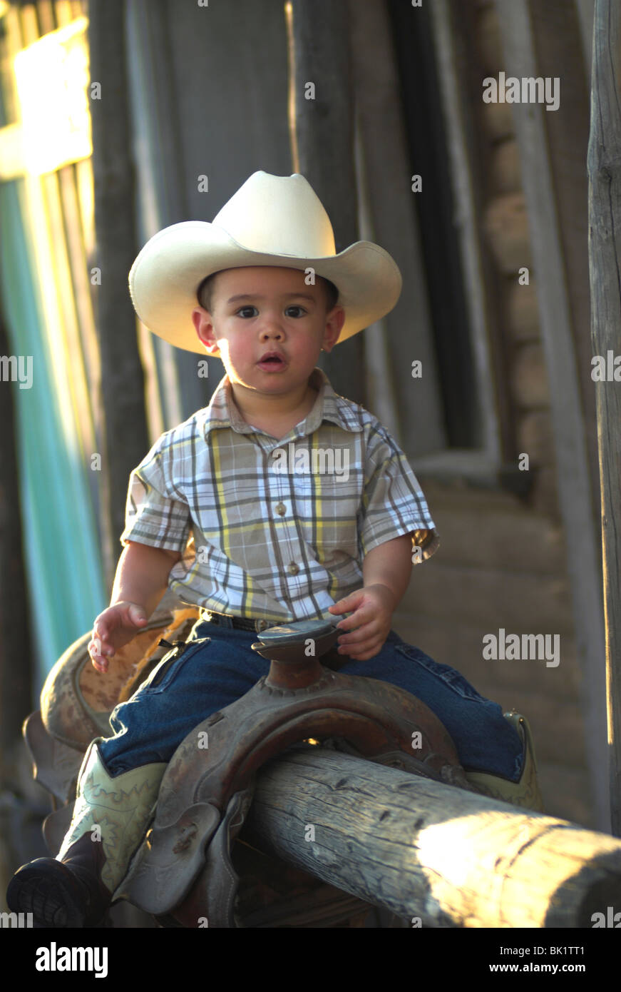 Wearing Cowboy Boots And Hat Stock Photos   Wearing Cowboy Boots And ... 7e3f691a4ac
