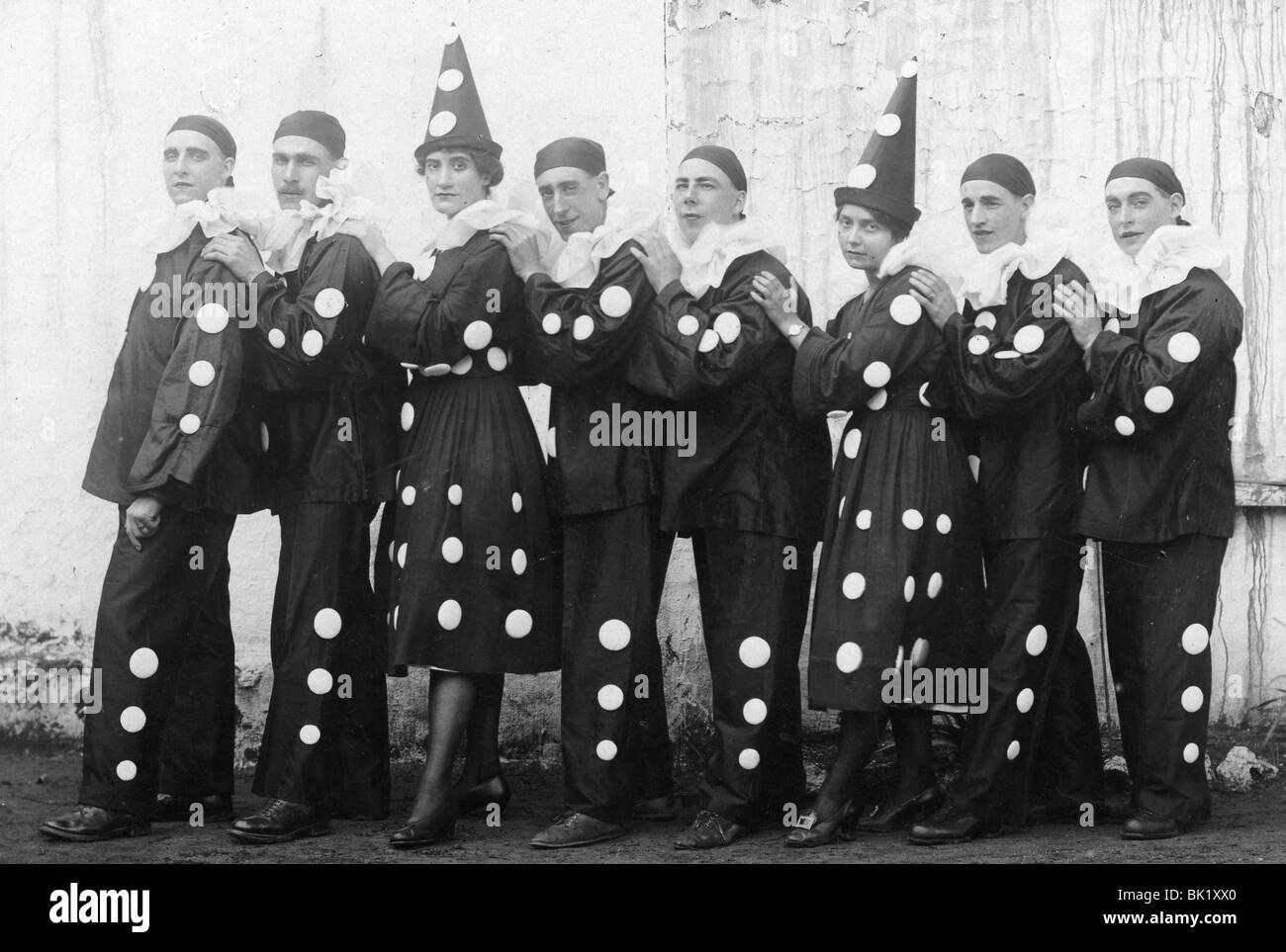 PIERROT TROUP about 1925 - Stock Image