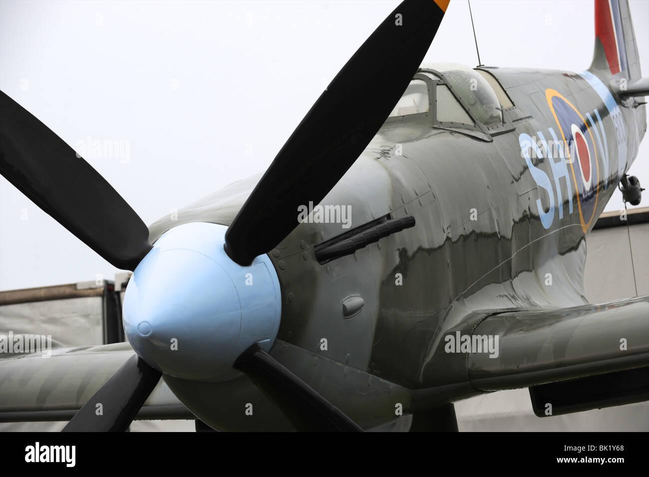 Spitfire gate Guardian at RAF Uxbridge - Stock Image