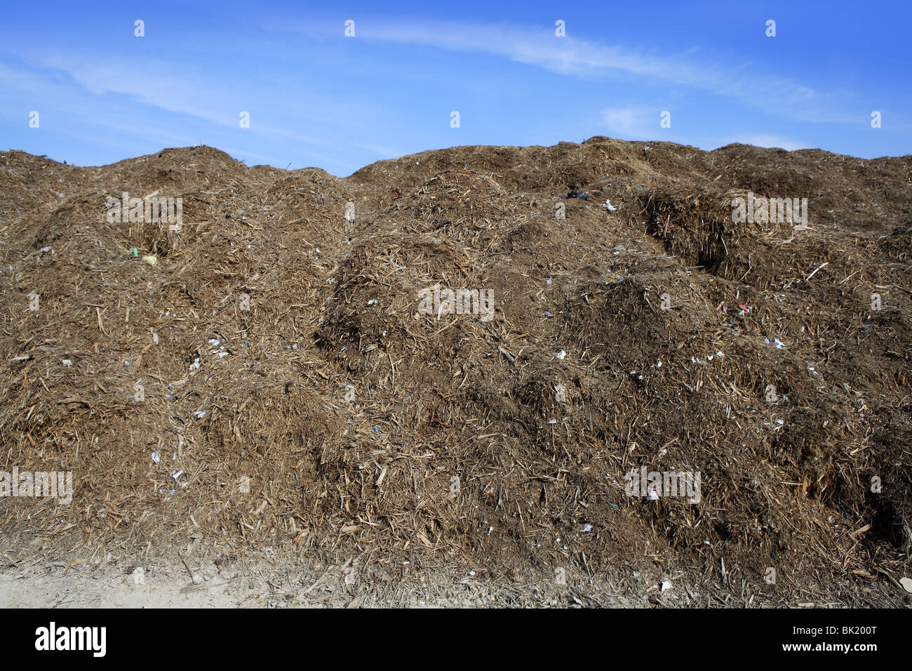 composting ecological compost warehouse blue sky Stock Photo