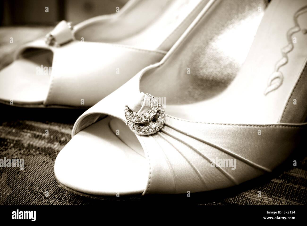 Bride's shoes Stock Photo