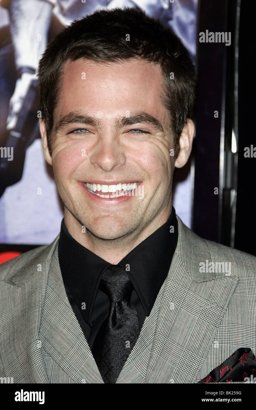 CHRIS PINE SMOKIN ACES WORLD PREMIERE GRAUMANS CHINESE HOLLYWOOD LOS ANGELES USA 18 January 2007 - Stock Image