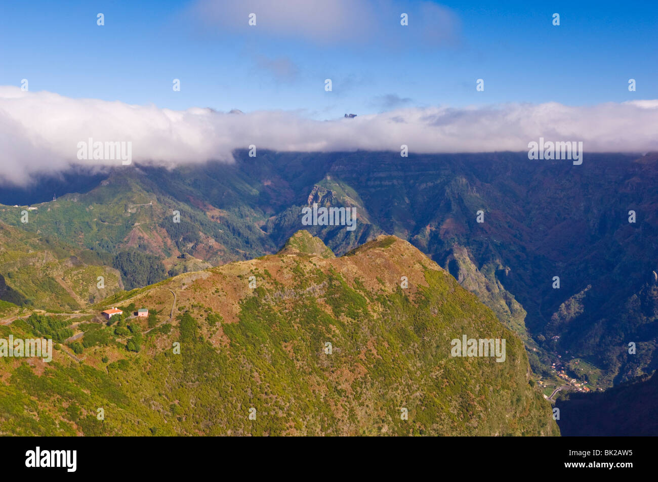 Casa do lomo do Mouro and Boca da Ecumeada, Madeira, Portugal, EU, Europe - Stock Image