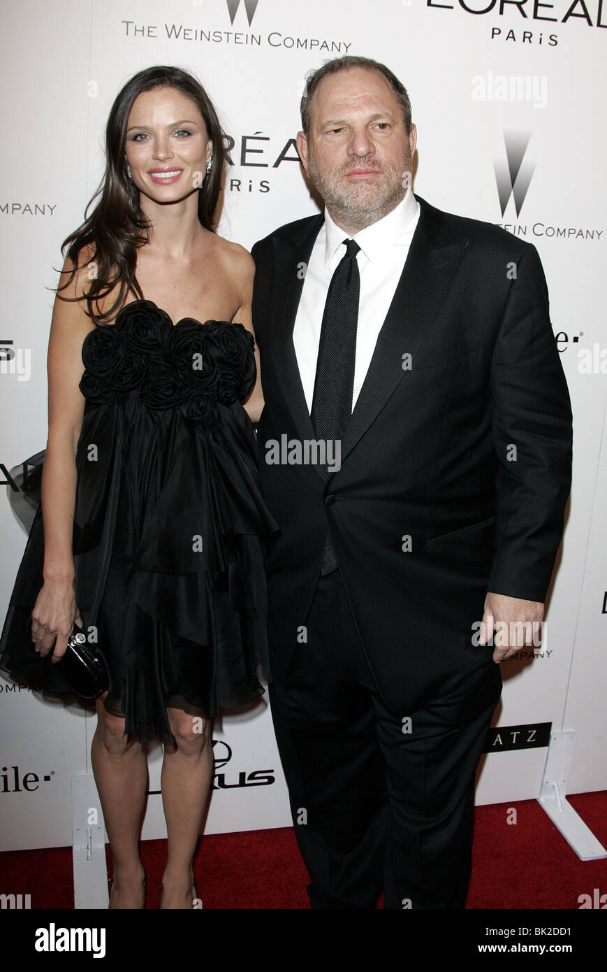 HARVEY WEINSTEIN THE WEINSTEIN COMPANYS 2007 GOLDEN GLOBES AFTER PARTY BEVERLY HILLS HOTEL BEVERLY HILLS LOS ANGELES - Stock Image