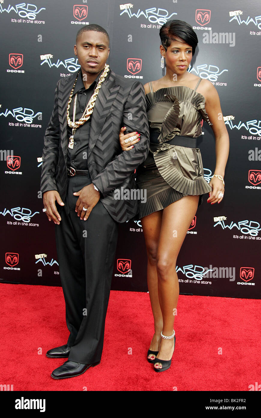 NAS & KELIS 2006 BET AWARDS SHRINE AUDITORIUM DOWNTOWN LOS ANGELES USA 27 June 2006 - Stock Image