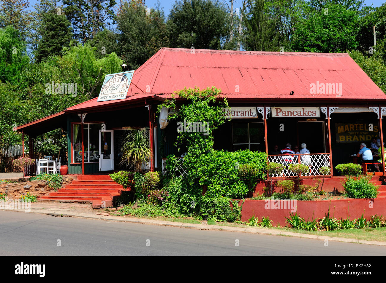 Old gold mining town of Pilgrim's Rest in Mpumalanga Province, South Africa Stock Photo