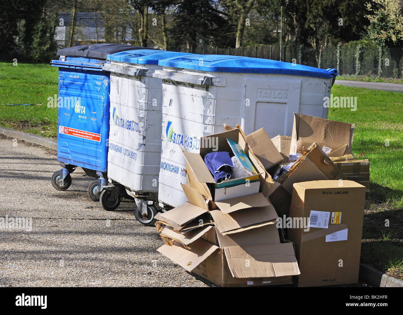 Domestic rubbish collection, - Stock Image