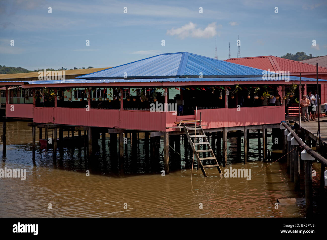 Kampong Ayer world's largest river village, Bandar Seri Begawan, Brunei. - Stock Image