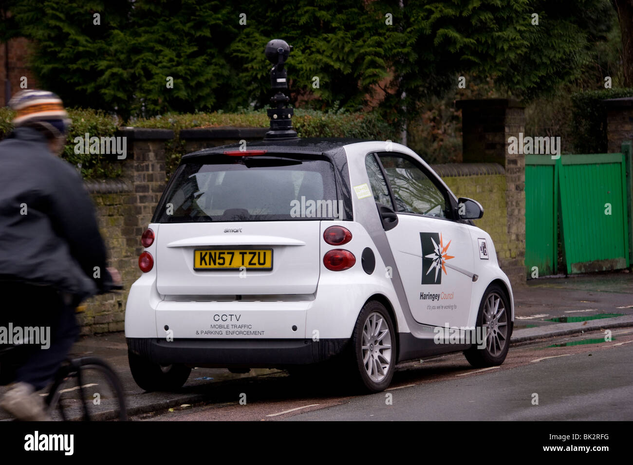 Haringey Council's smart car to enforcing parking control,  replete with a roof mounted swivel camera ... - Stock Image