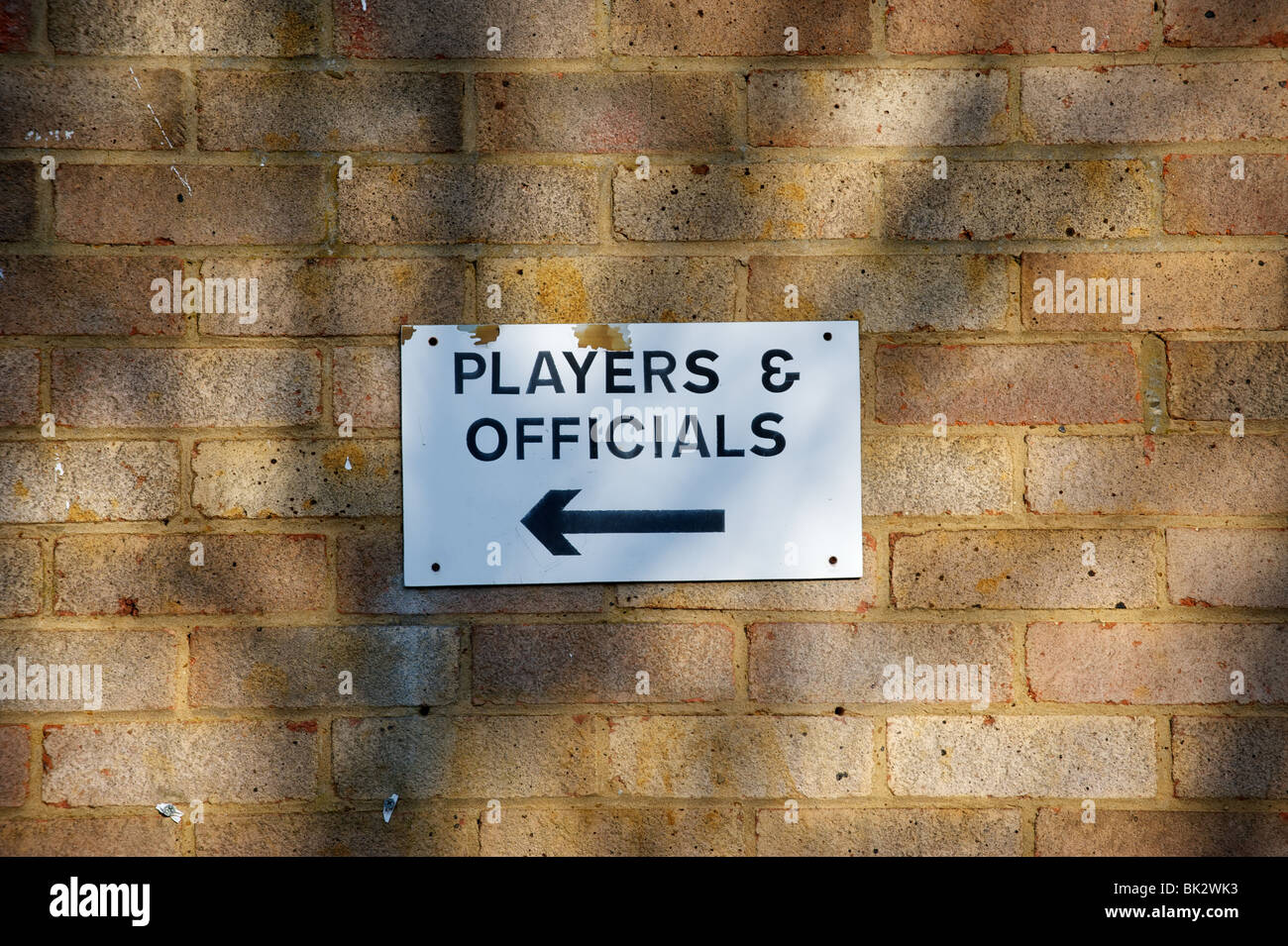 Players and officials sign - Stock Image