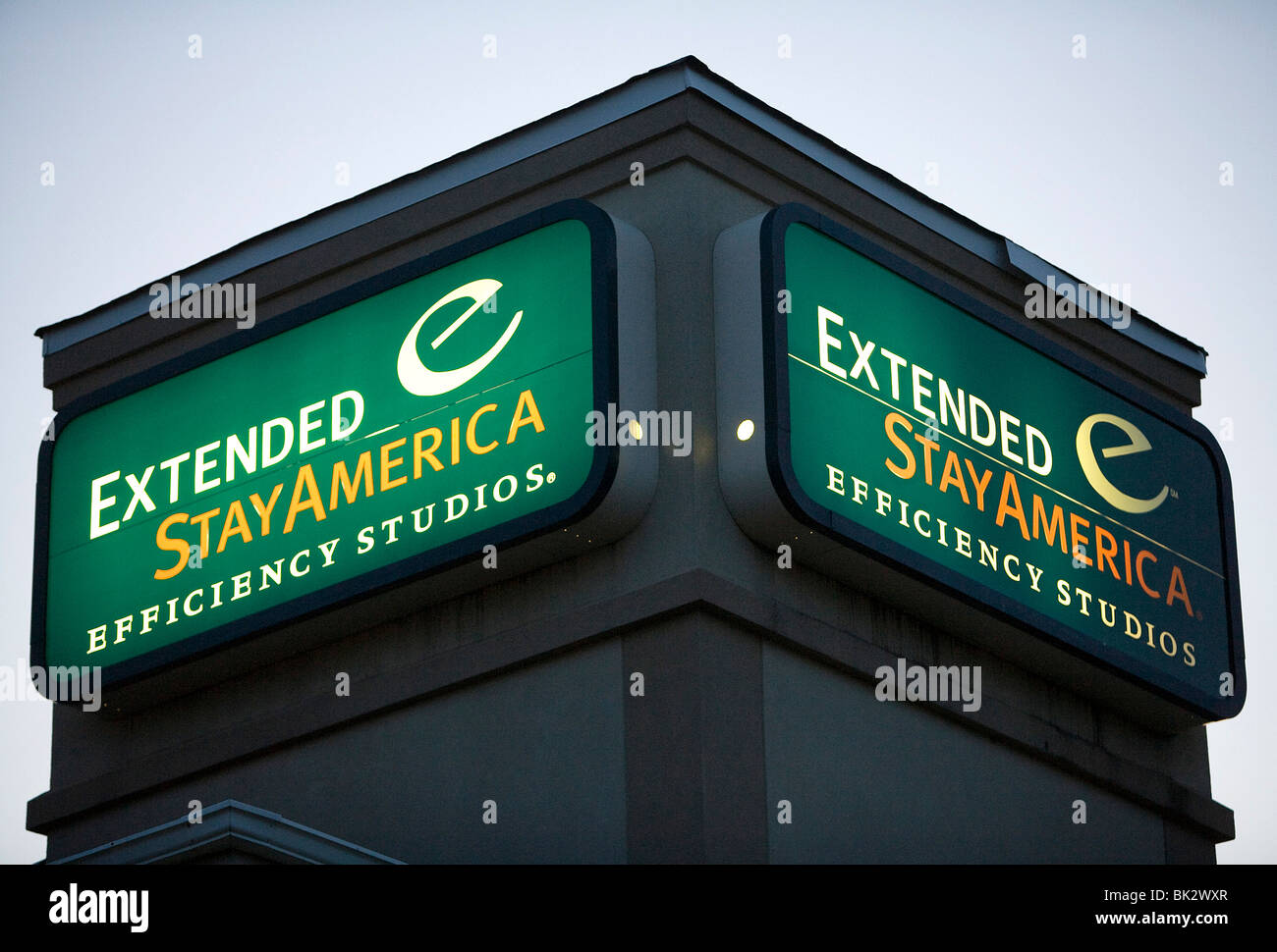 A Extended Stay America hotel location in suburban Maryland.  - Stock Image