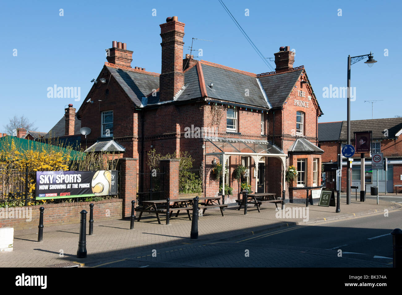 The Prince Public House Crowthorne Berkshire UK - Stock Image