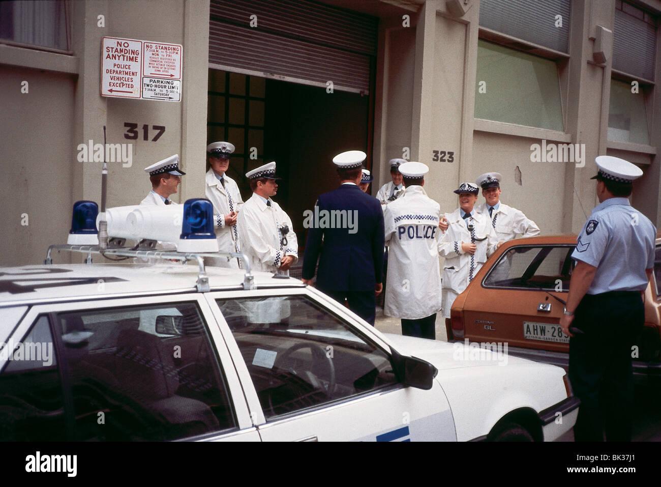 Police Officers Police Car In Melbourne Australia Stock Photo Alamy
