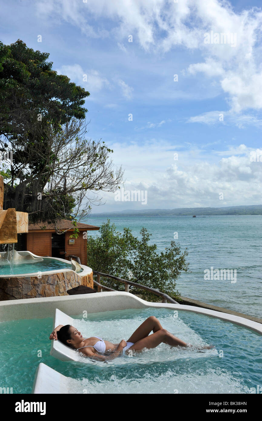 Hydrotherapy talasso pool, Badian Natural Spa at Badian Island Resort and Spa, Cebu, Philippines, Southeast Asia, - Stock Image