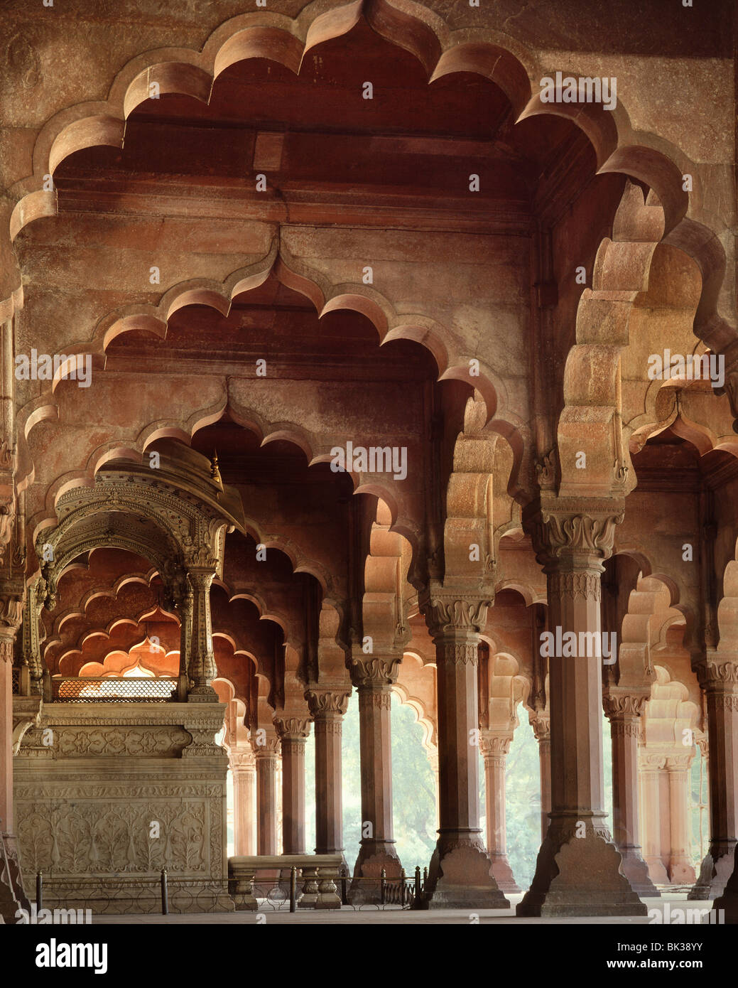 The Throne of Akbar, Red Fort, UNESCO World Heritage Site, Delhi, India, Asia - Stock Image