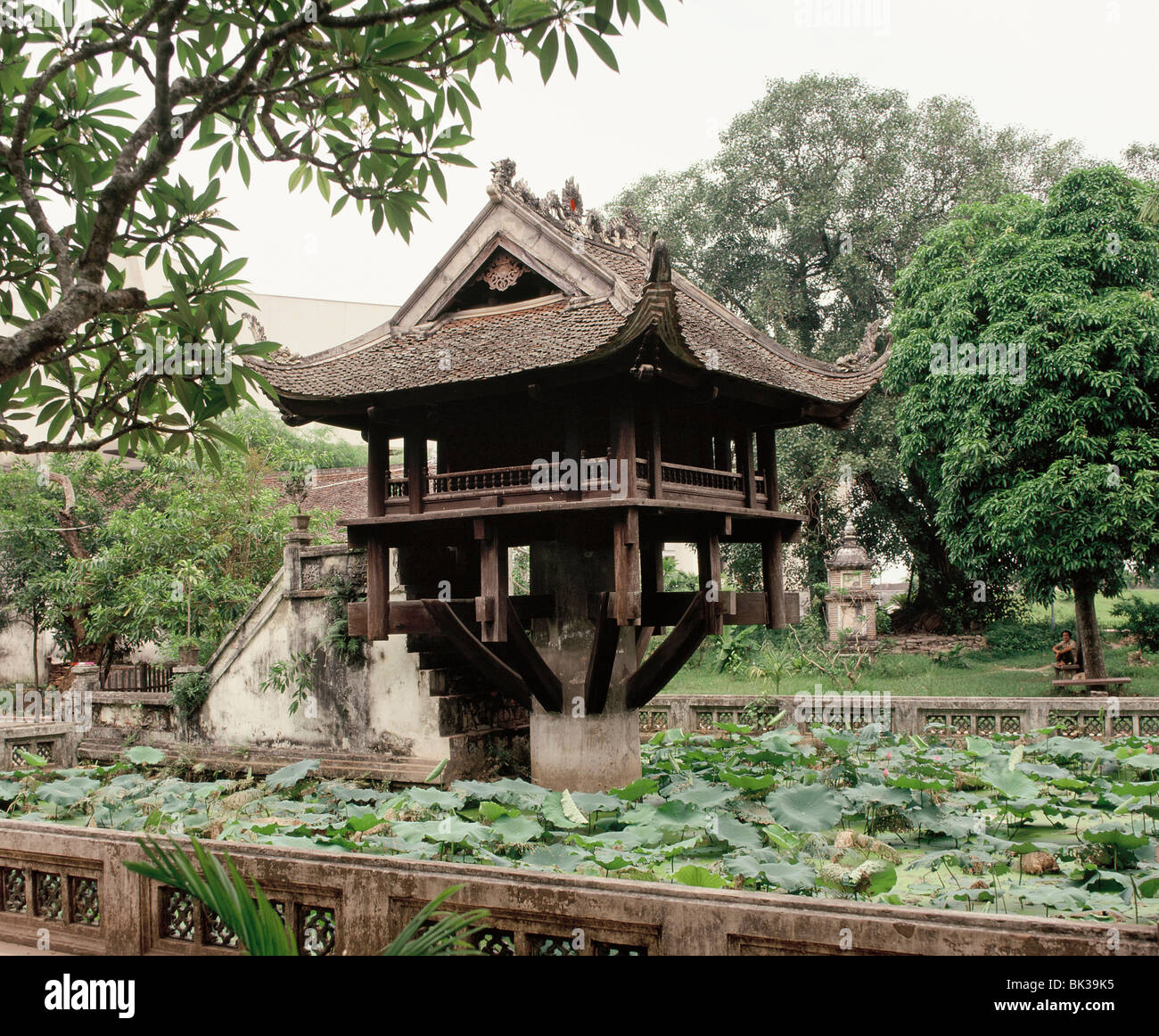 One Pillar Pagoda, Hanoi, Vietnam, Indochina, Southeast Asia, Asia - Stock Image