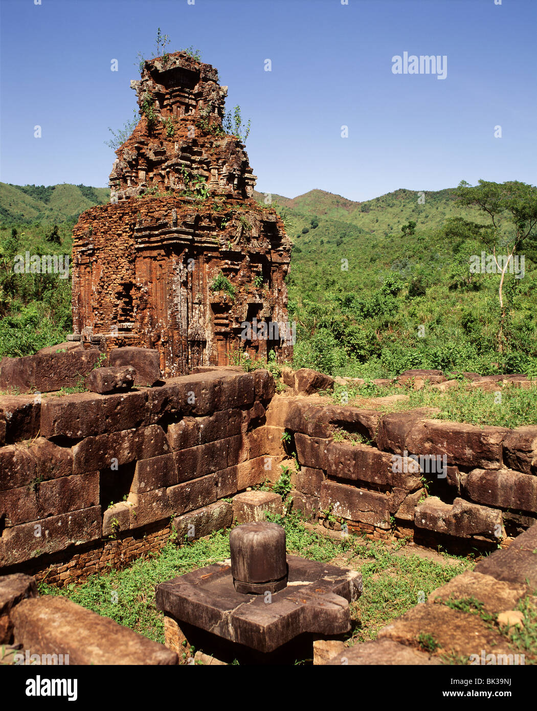 Ruins of the Cham sanctuary of My Son, dating from the 7th to 10th centuries, Vietnam, Indochina, Southeast Asia, Stock Photo