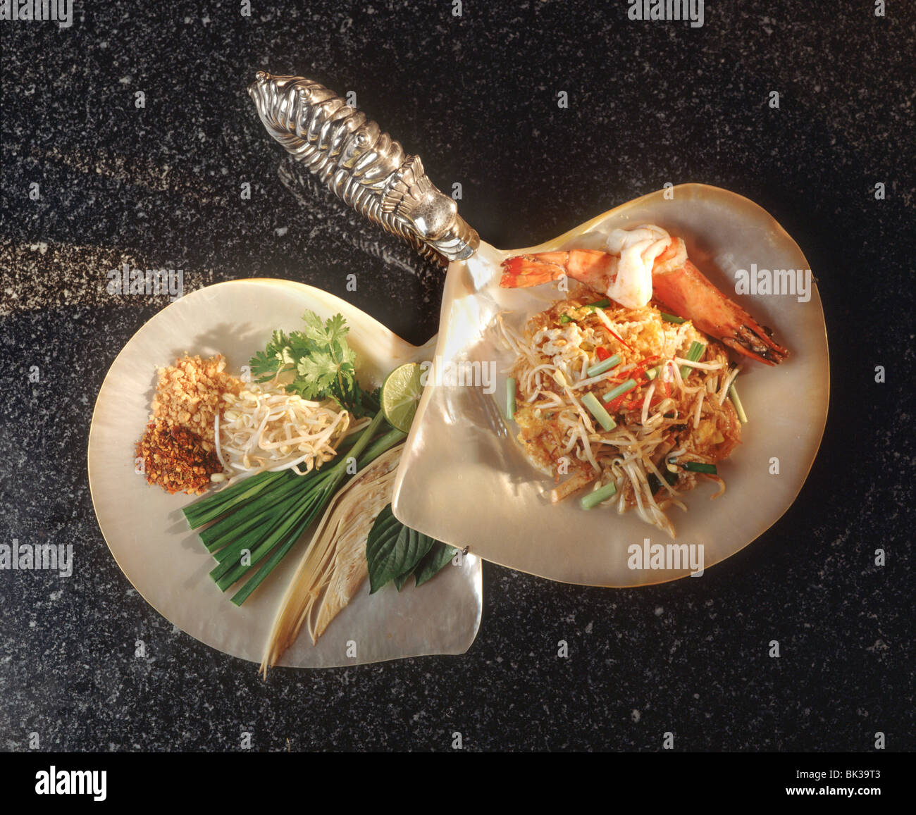 Thai style noodles, a typical noodle dish, Thailand, Southeast Asia, Asia - Stock Image