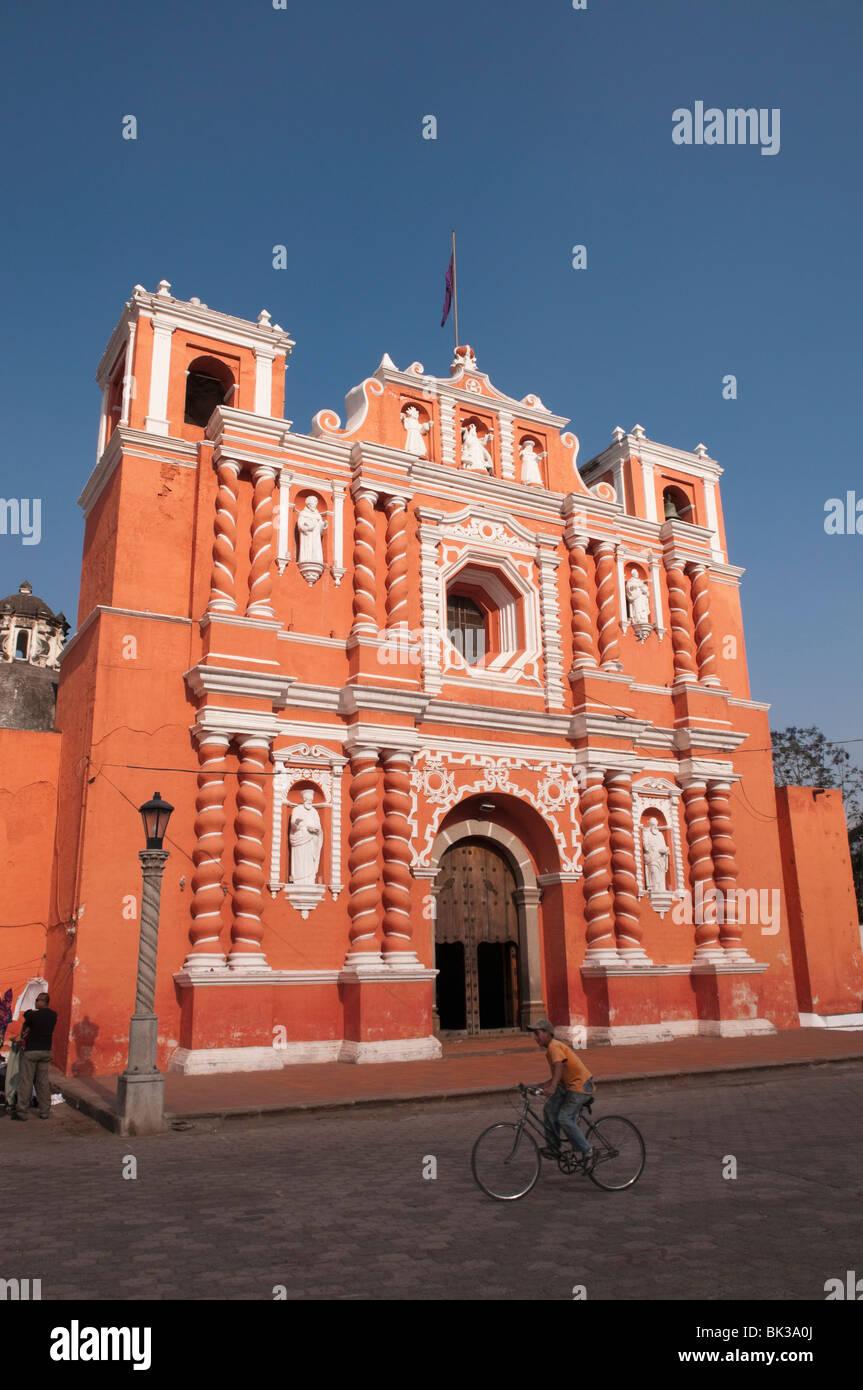 Jocotenango church near Antigua, Guatemala, Central America - Stock Image