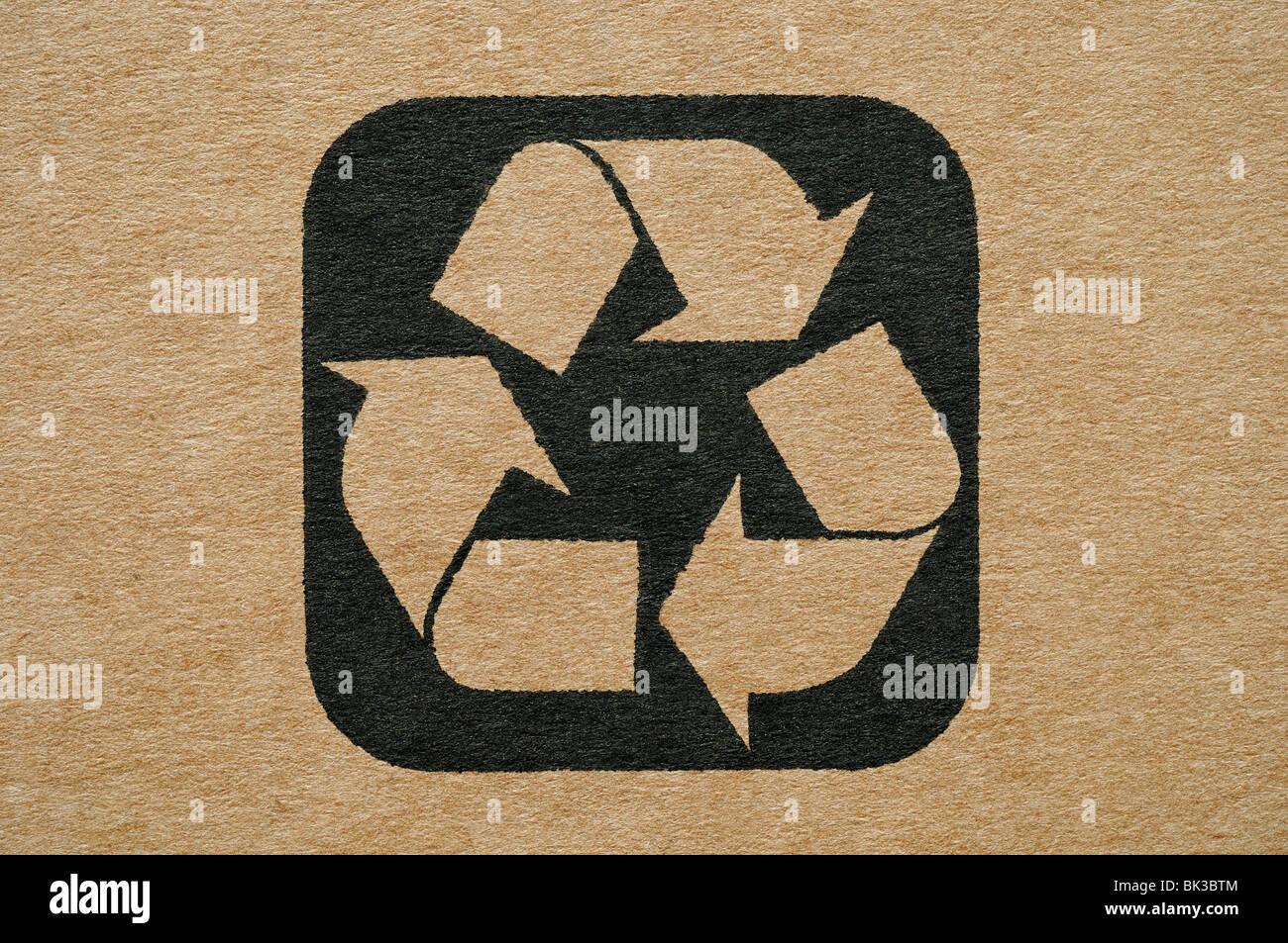 Cardboard Recycling Symbol - Stock Image