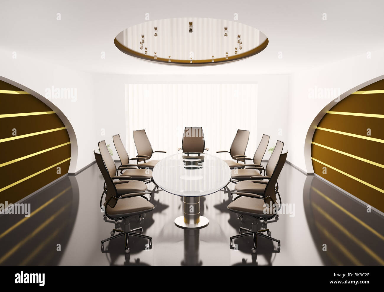 Oval Conference Table Stock Photos Oval Conference Table Stock - Oval glass conference table
