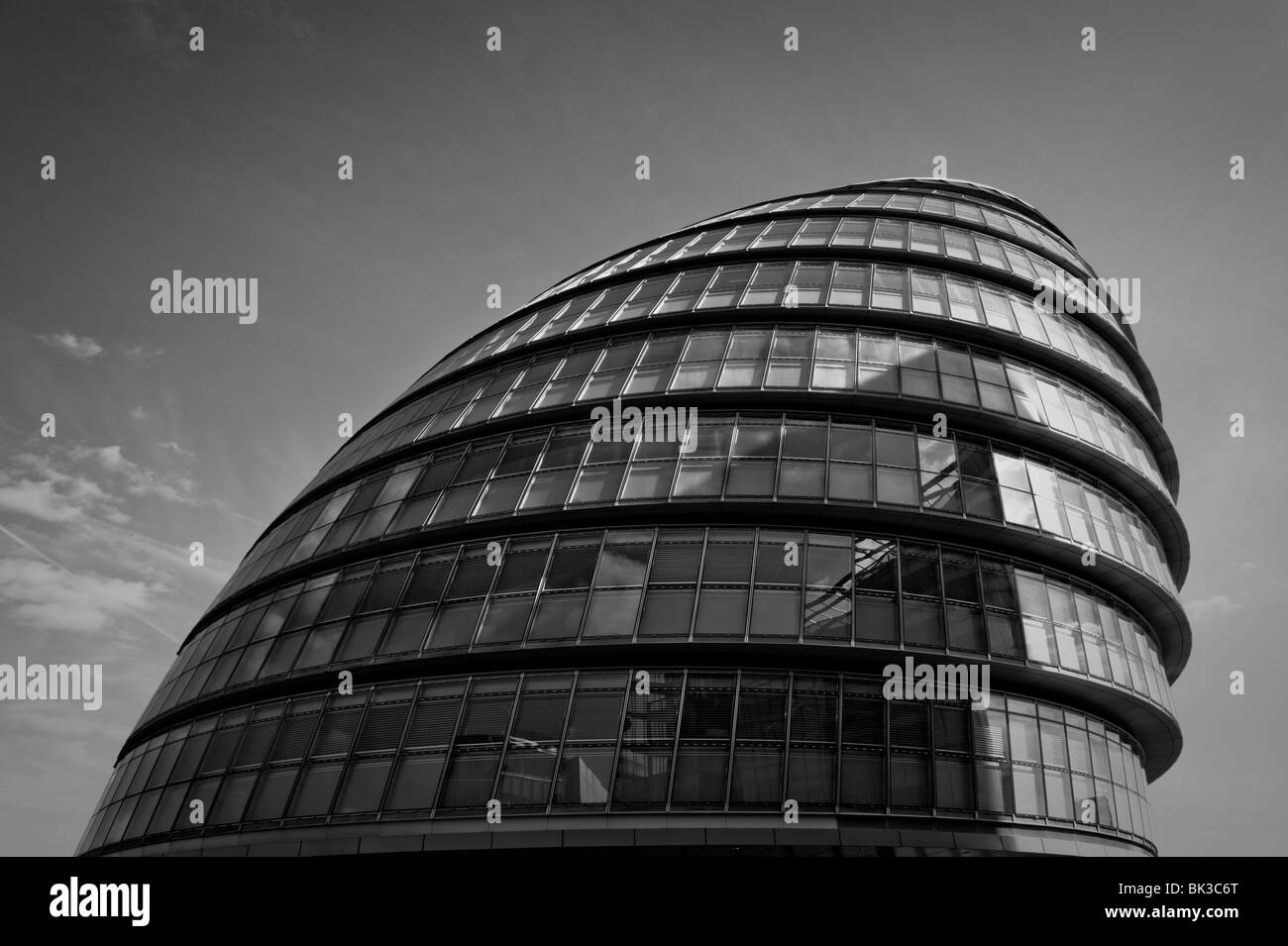 Government building by the river Thames in London - Stock Image