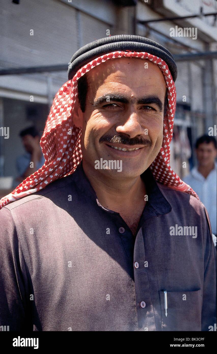 Portrait of a Jordanian man in Amman, Jordan - Stock Image