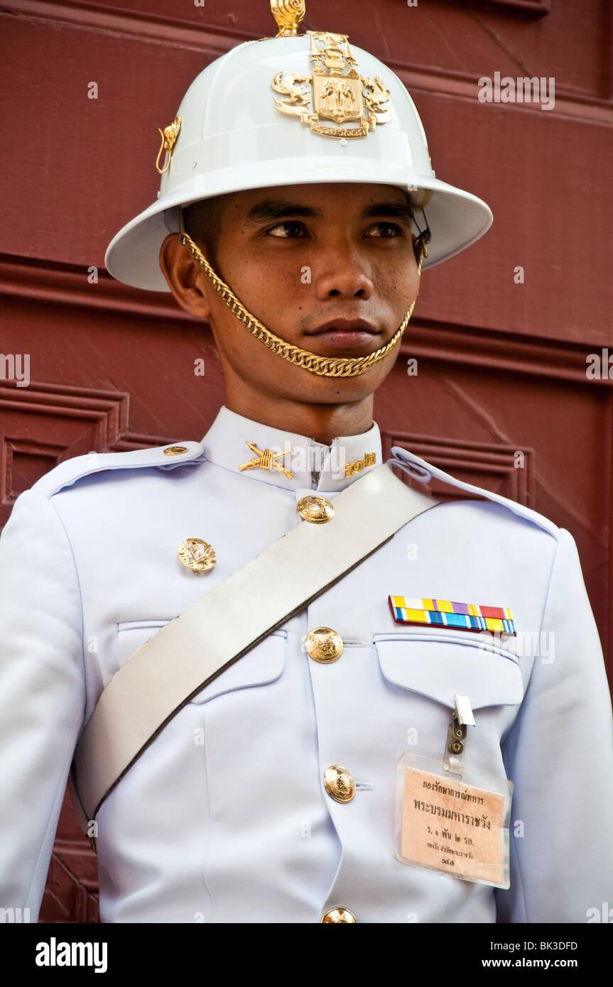 Royal Guard at the The Grand Palace in Bangkok, Thailand. - Stock Image