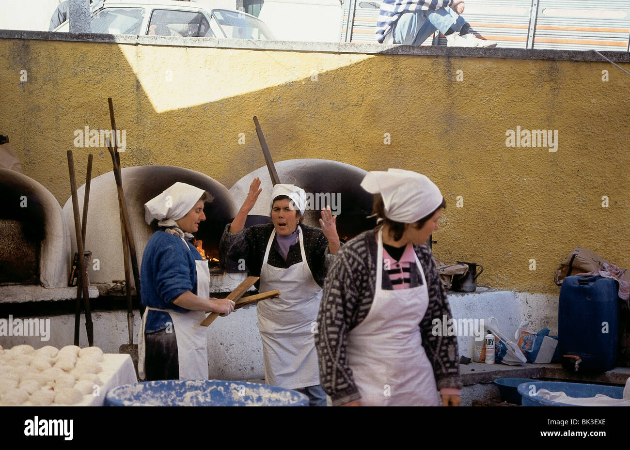 Outdoor bakery, Portugal - Stock Image