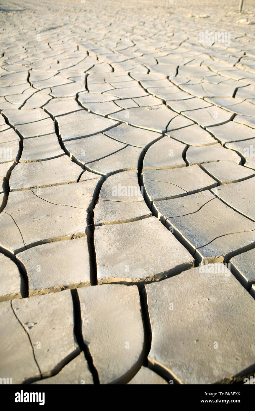 drought desert water earth background misery  ecosystem ecological - Stock Image