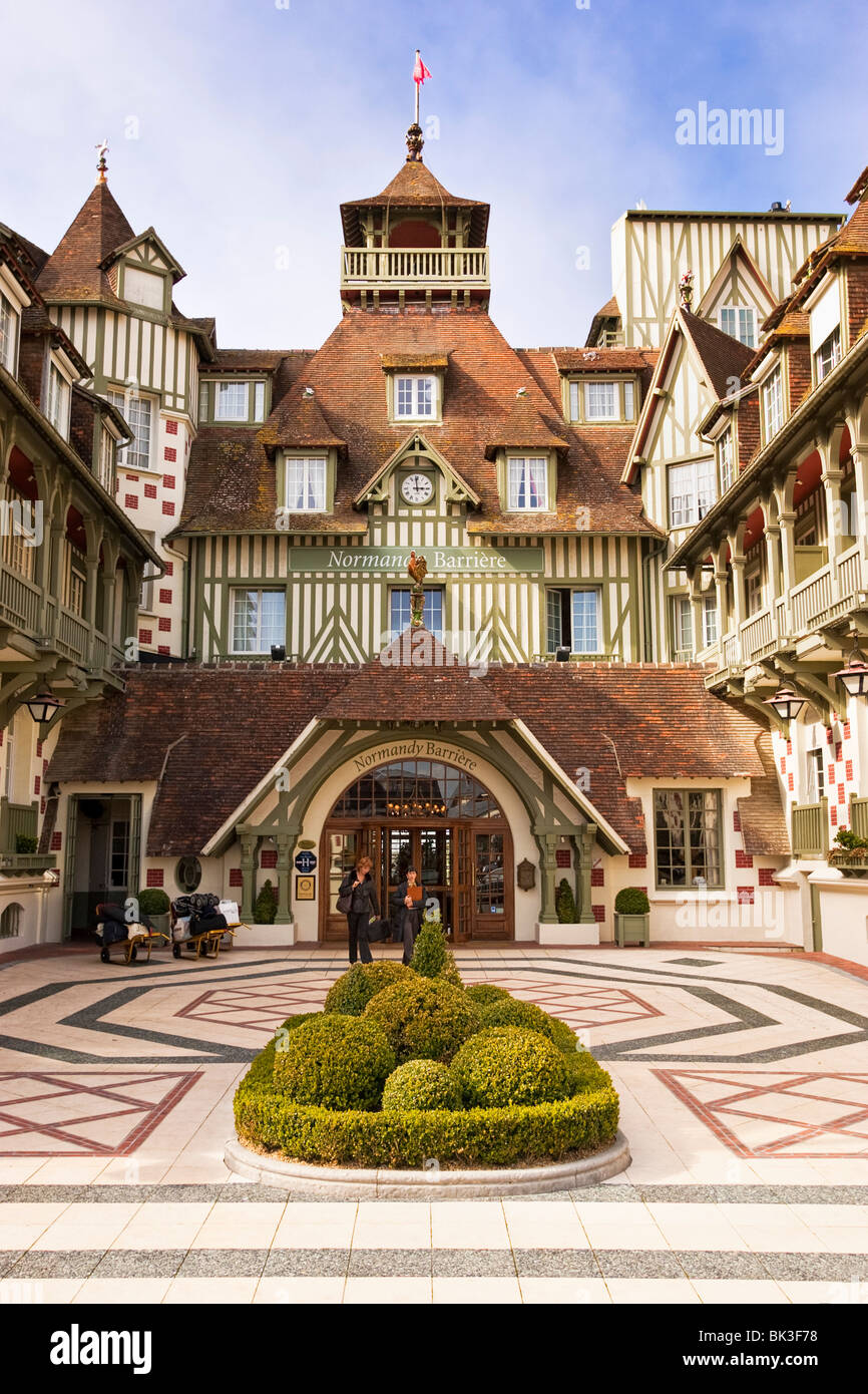 France normandy deauville hotel stock photos france for Design hotel normandie france