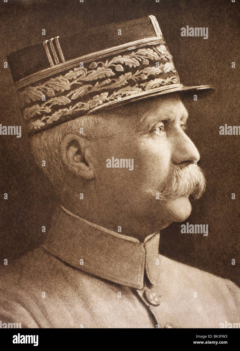 Henri Philippe Benoni Omer Joseph Pétain 1856 – 1951. French general and Marshal of France. - Stock Image