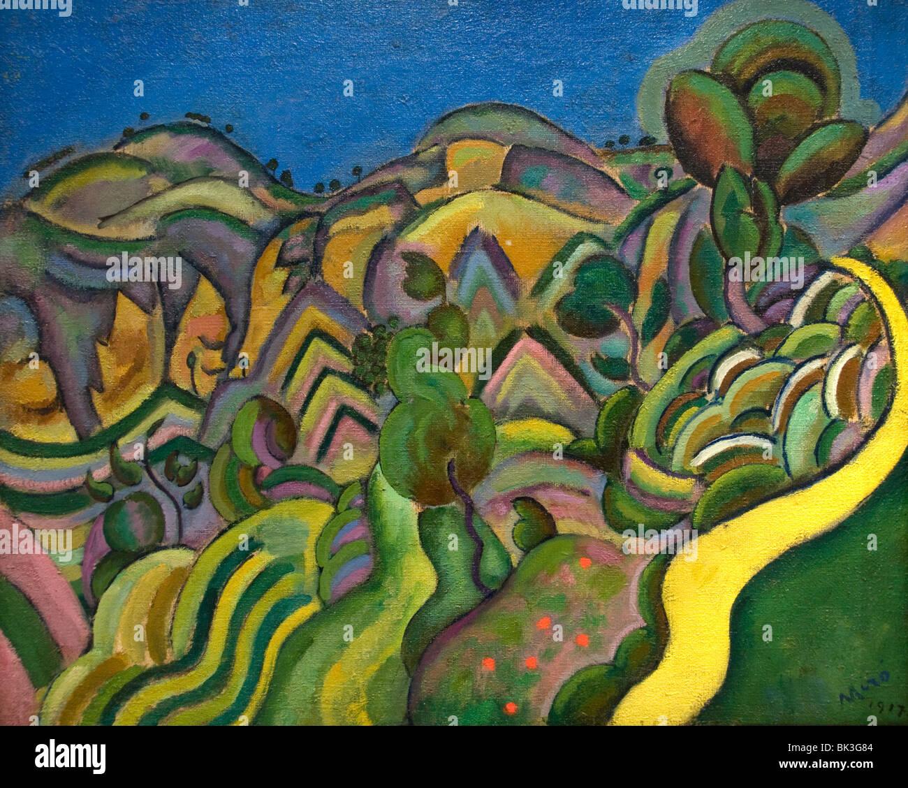 Joan Miri Spain Spanish Painter  Siurana the path 1917 - Stock Image
