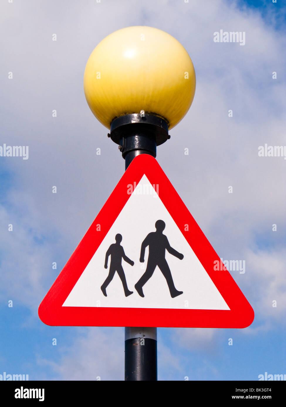 British pedestrian crossing sign England UK - Stock Image