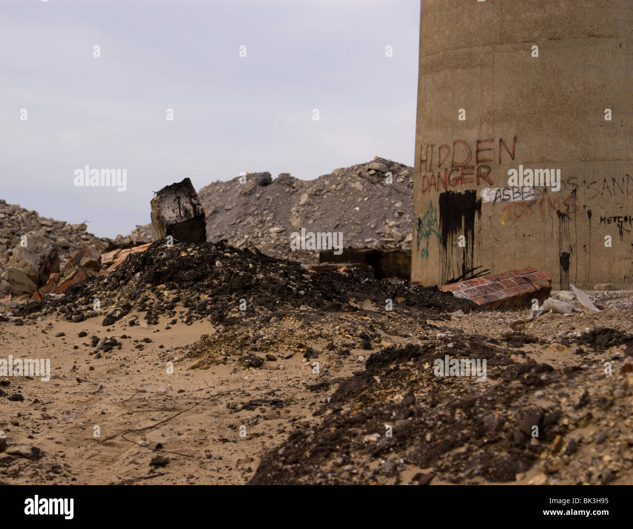 URBAN DECAY SITE OF THE DECAYED AND DERELICT STEETLY INDUSTRIAL SITE HARTLEPOOL UK - Stock Image