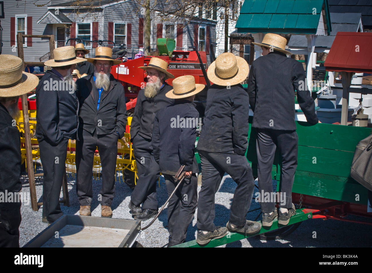 Local volunteer fire companies raise funds through what have affectionately come to be known as Mud Sales. Stock Photo