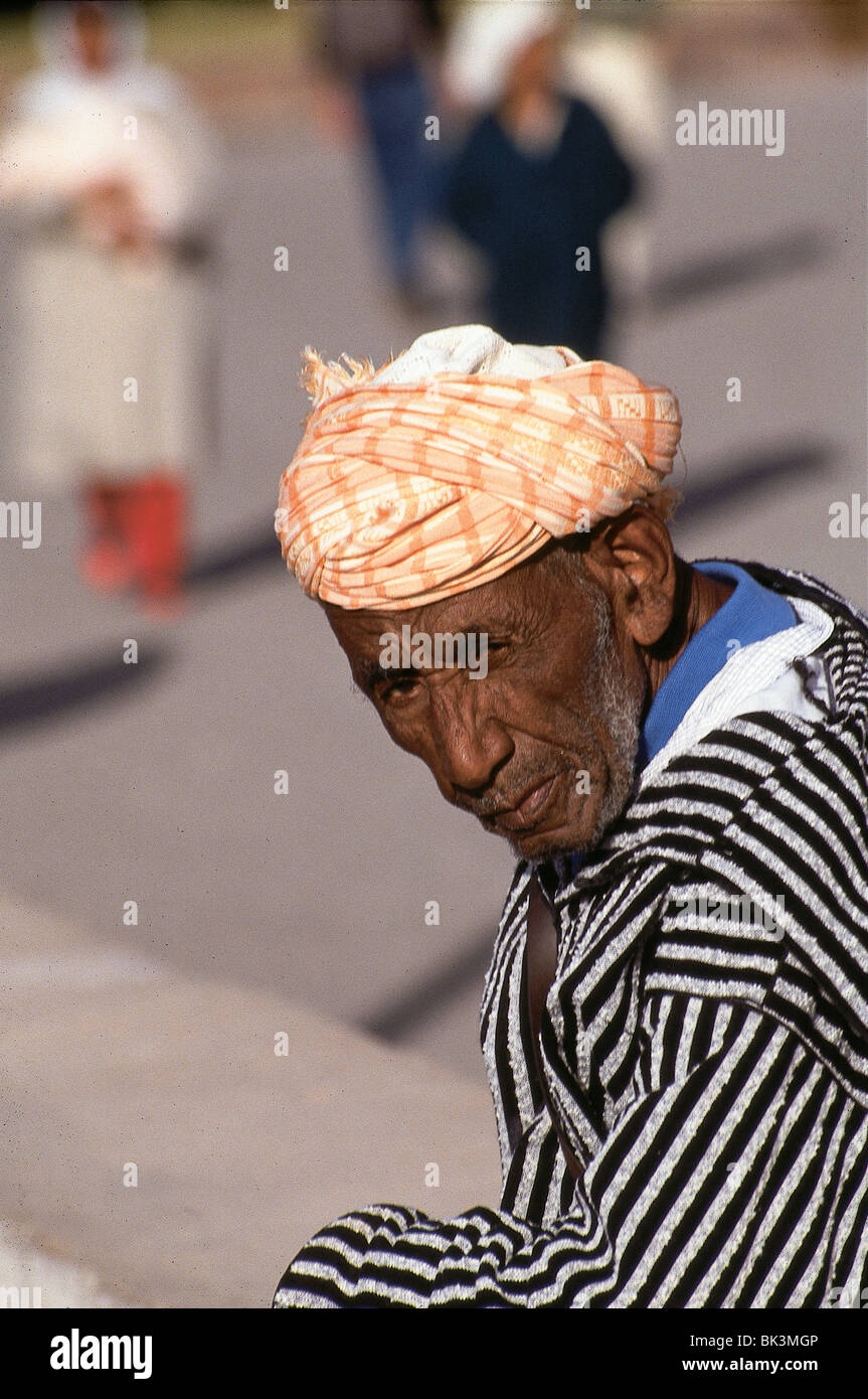 Portrait of a man in Safi, Morocco - Stock Image