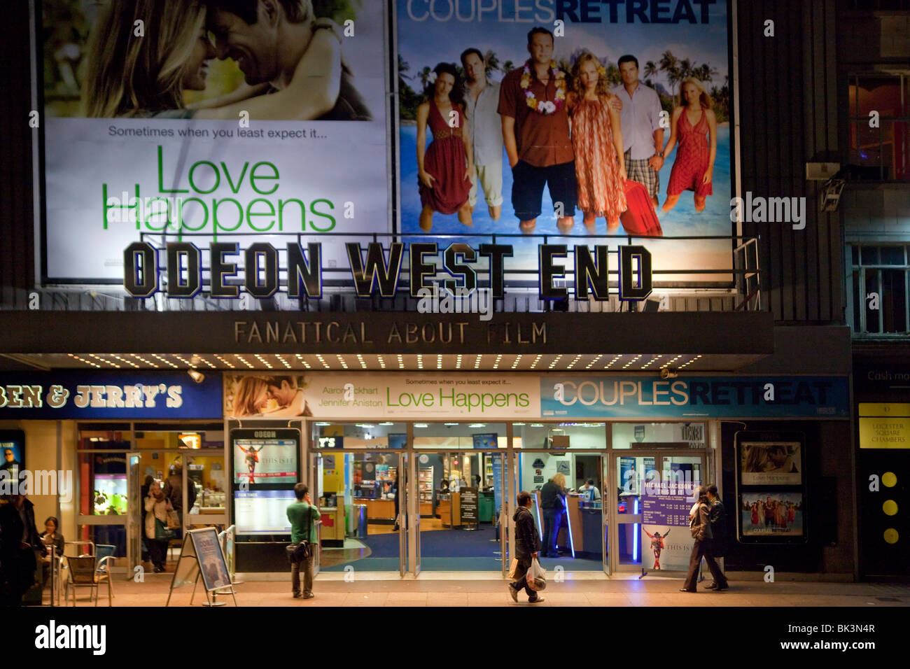 The Odeon West End, a cinema on the south side of Leicester Square, London, UK - Stock Image