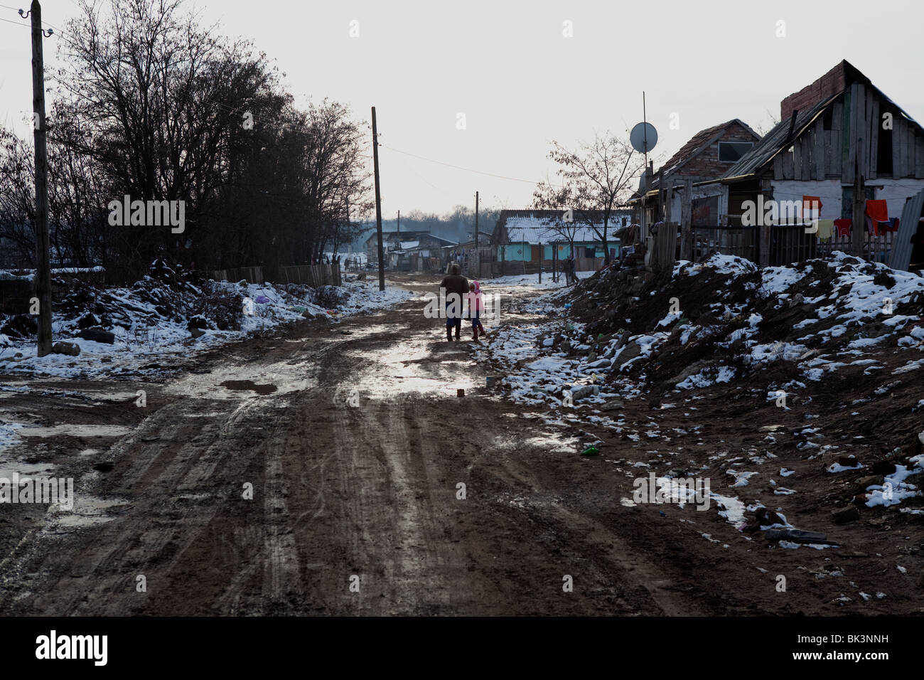 The impoverished Roma district of Arad, nicknamed