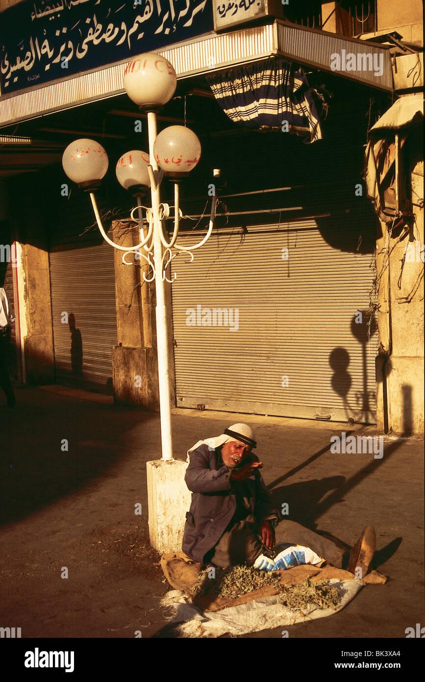 Street vendor in Amman, Jordan - Stock Image