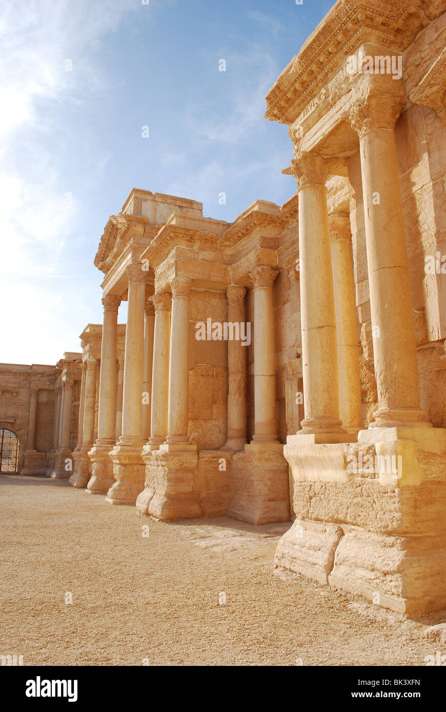 Theater in the ruins of the Palmyra archeological site, Tadmur, Syria, Asia - Stock Image