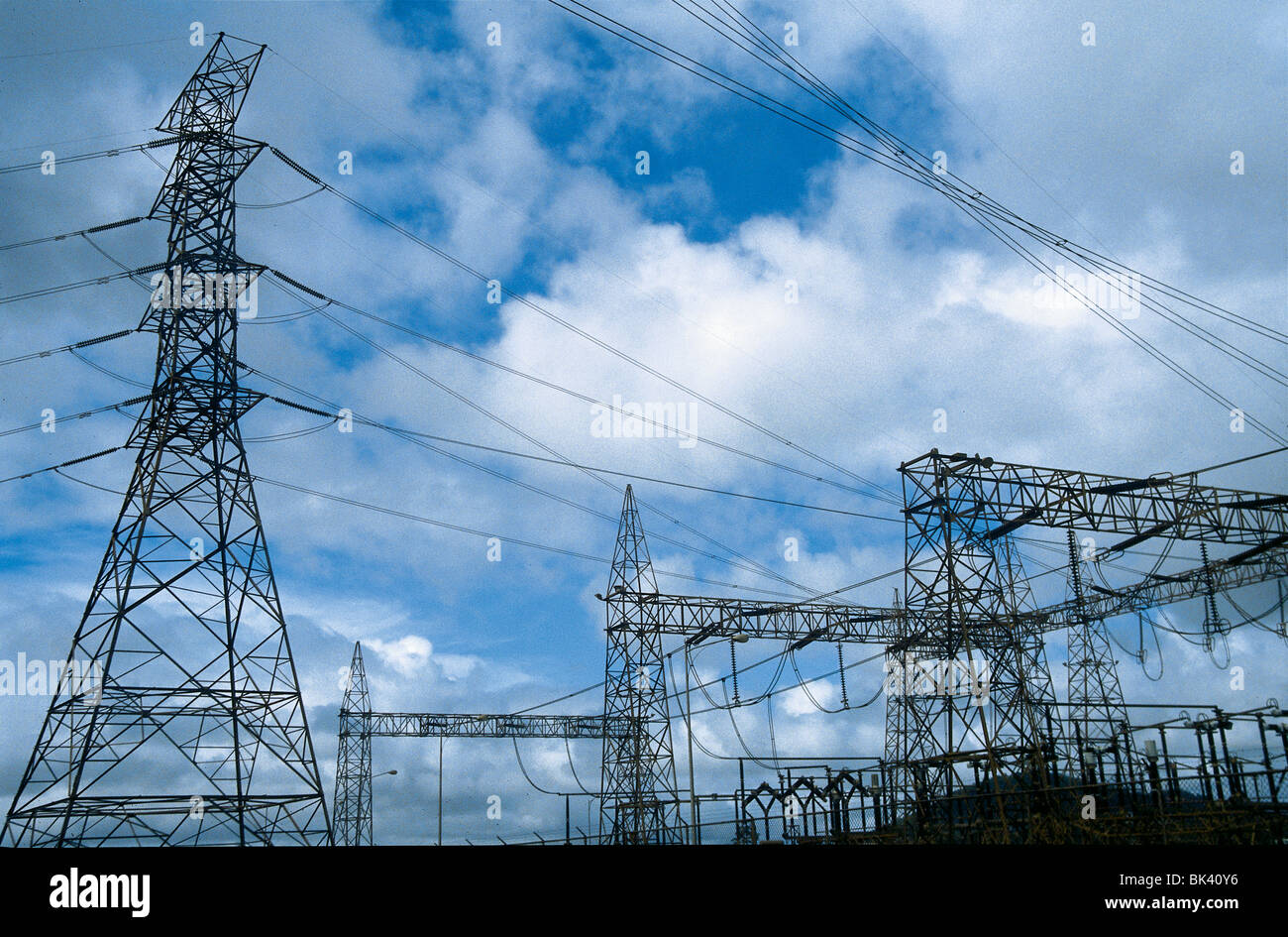 electrical transmission lines at the guri dam in the state of stock photo alamy alamy