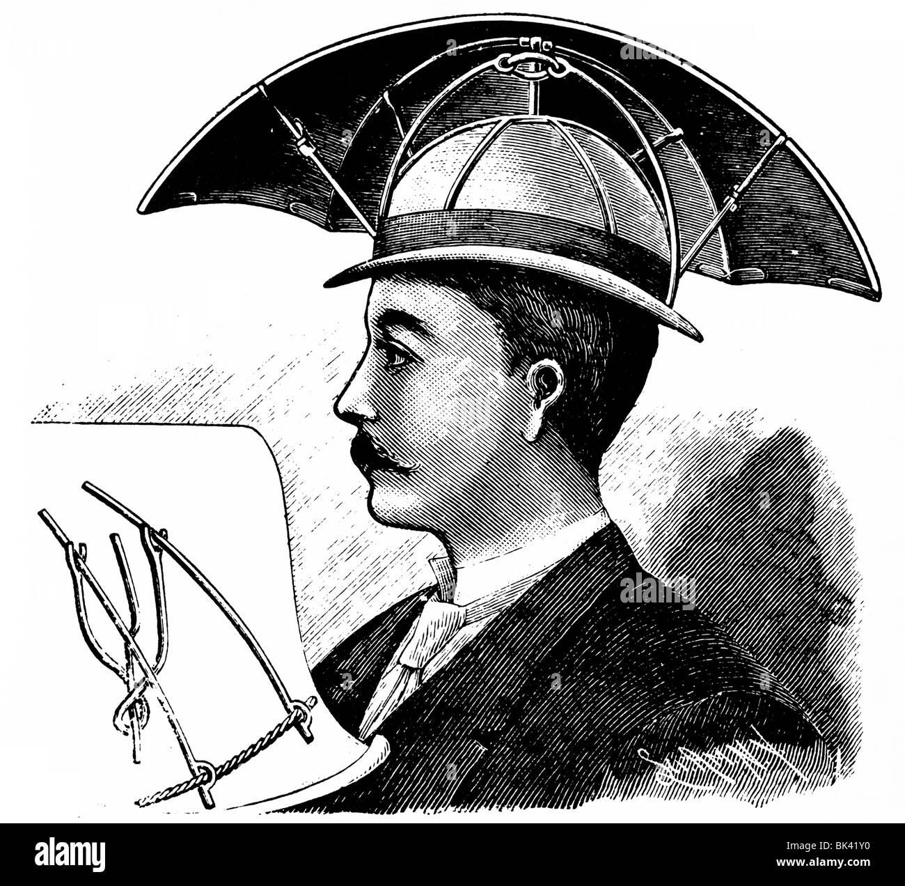 Bartine s sunshade hat, 1890 - Stock Image