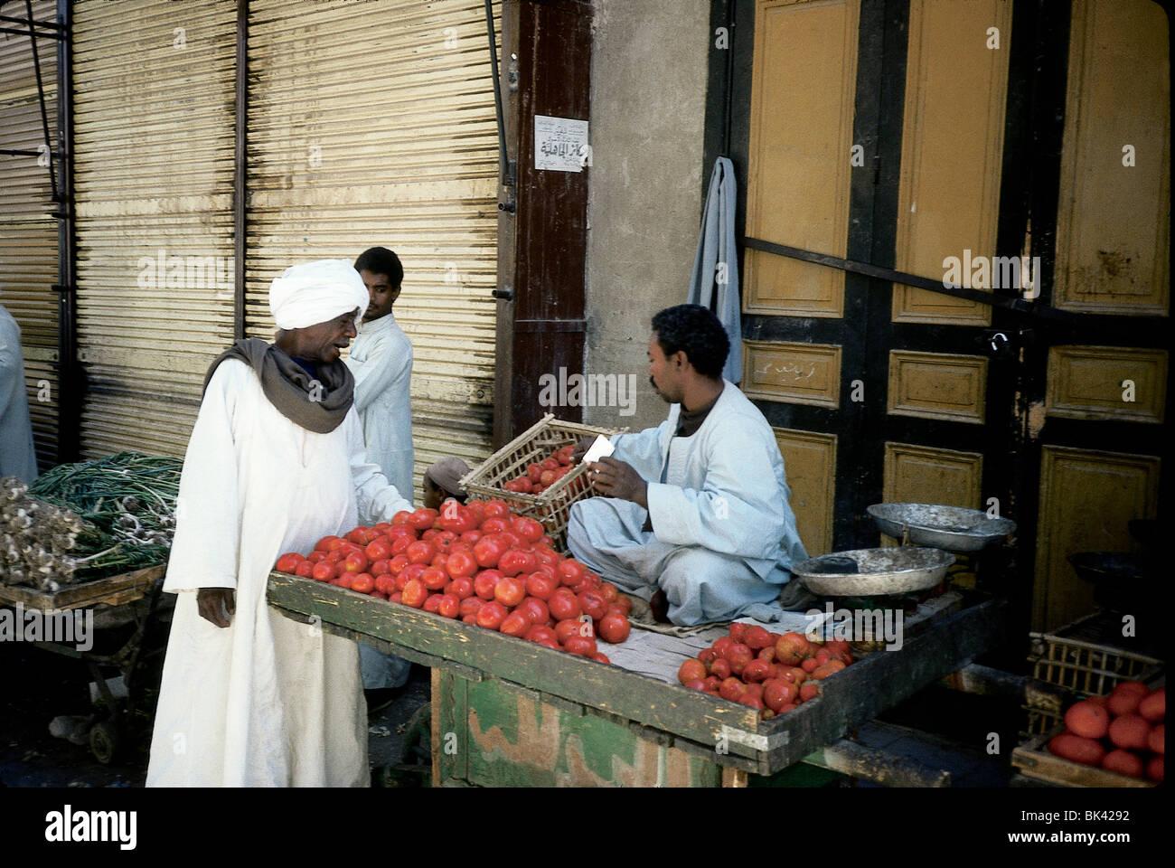 Vegetable Market, Egypt - Stock Image